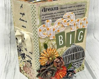 DREAM BIG All Occasion Interactive Scrapbook Scrapbooking Chipboard Album Magnet Closures