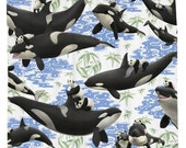 Captives, Shower Curtain, Orcas, Giant Pandas, Printed in USA