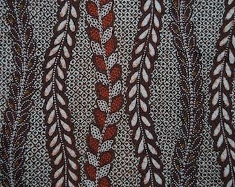OOP fabric faux Batik Shibori brown cotton by Hoffman