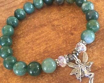 Moss Agate Abundance & Wealth Bracelets