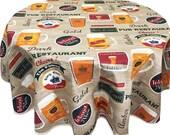 Beer Tablecloth, Pub Tablecloth, Acrylic Coated Tablecloth