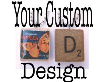 Custom Scrabble Tile Pendant