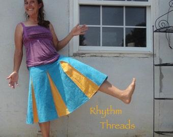 Color burst hemp skirt! Free sized gusseted skirt