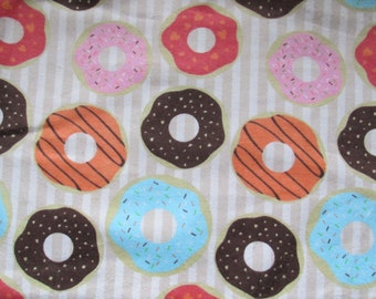 Cotton flannel - donuts - sprinkles