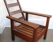 rare early american stickley brothers child's morris chair arts and crafts mission miniature oak chair turn of the century 1900s original