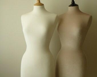 Slip On Luxury Velvet Mannequin Dressform COVER ONLY - Ivory