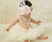 La Vie En Rose - Pink Handmade Flower Headband, Baby Headband,Girls Headband, Floral Headband