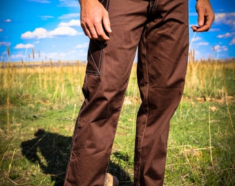 Pacha Play Mens Pants- Brown Stretch- Mens' Clothing- Festival- Stretch- Ninja- Burner- Dance- urban jedi