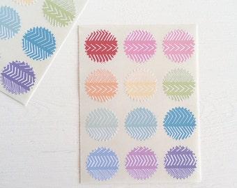 tiny starburst stickers - this way