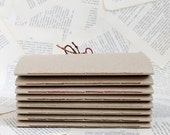 Eco Friendly Jotter Notebook with Recycled Kraft Paper Pages and Linen Ties