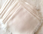 "9 Vintage cotton fringed 15"" napkins"