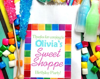 Personalized Candy Bags, candy birthday party favor bags , treat bags, Candy Buffet bags, Birthday party, Sweets, Treats