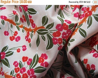 ON SALE Floral cotton fabric   - sewing supplies - quilting fabric - never used-