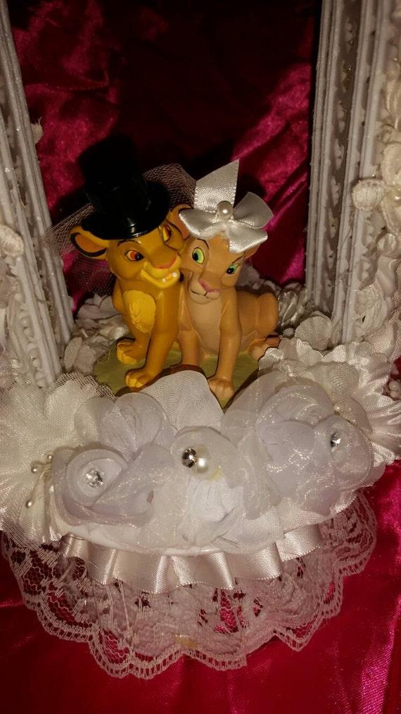 LION KING wedding cake topper Young Simba Nala