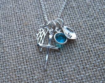 Custom Angel Wing Necklace - Angel Wing Jewelry - Memorial Jewelry - Cross Necklace - Angel Necklace - Angel Jewelry - Religious Jewelry