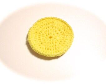 Yellow Crocheted Nylon Netting Dish Scrubbie-Large