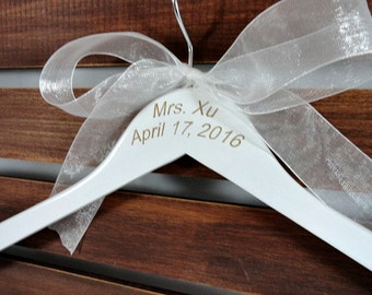 Bride Dress Hangers Engraved Monogram Etsy Bridal Hangers No Wire Wedding Photo Props