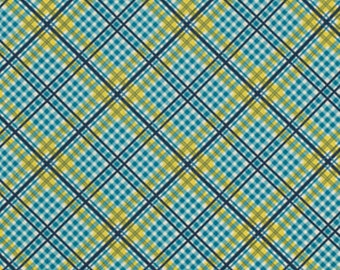 YARDS or HALF YARDS - Complex Plaid in Willow by Denyse Schmidt for FreeSpirit Fabrics