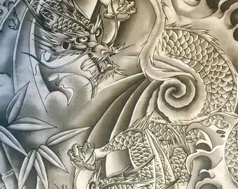 Orimono IV dragon tonal gray by Trendex Fabrics for Kona Bay