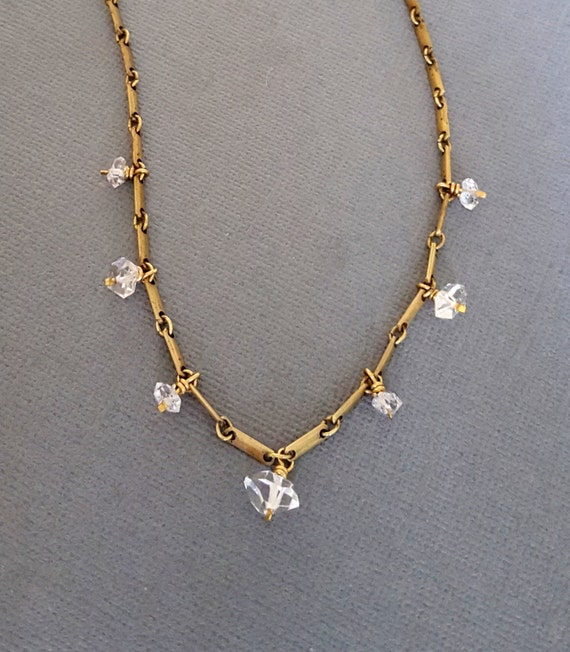 herkimer edgy necklace edgy jewelry herkimer by