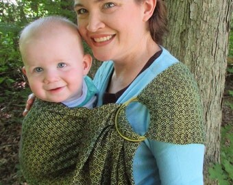 SALE - Ring Sling, Wrap Conversion, Baby Carrier,- WCRS - Lenny Lamb Little Love Lemon Tree - DVD included, baby, toddler, shower gift