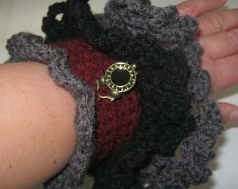 Steampunk Gothic Lolita Clock Wrist  Arm Warmers