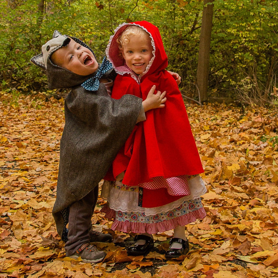 Toddler Wolf Cape Costume Little Red Riding Hood Halloween