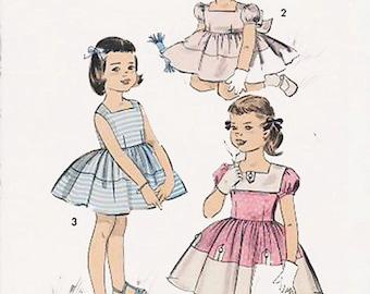 1950s Girls Dress or Sundress Advance 8571 Vintage Sewing Pattern Size 2 UNCUT No Envelope