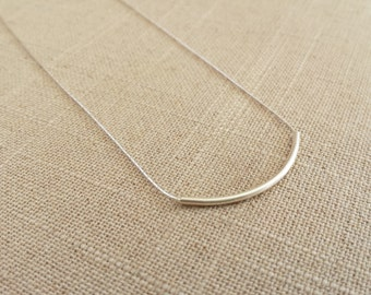 Handmade Sterling Silver Tube Necklace