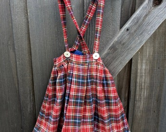1950s Plaid Skirt 3/4T
