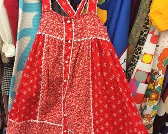 70s Girls Dress 4T
