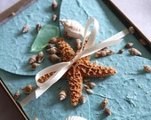 Boxed Simple and Modern Starfish Beach Wedding Invitations, Beach Wedding Invitations, Turquoise Invitations with Starfish, Robin's egg blue