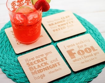 Shakespeare Insult Coasters