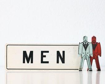 Vintage MEN Sign