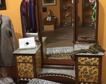 Safari Vanity and Bench
