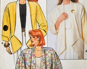 Vintage Sewing Pattern Butterick 3686 Misses' Loose Fitting Jackets Size P-S-M Bust 30-36 inches  Uncut Complete
