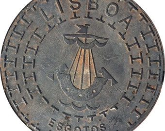 DOORMAT - Lisbon Sewer Cover - Original Photography
