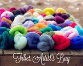Fiber Artists Bag, Wool Roving, Wool Roving by the Pound, Roving Wool, Wool Roving for Felting, Wool Roving for Spinning, Needle Felting