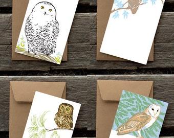Four Owl Assortment of Flat Panel Cards