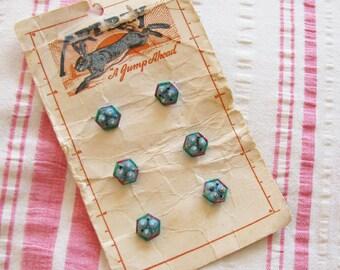 Make a Statement...Splendid Vintage Czech Glass Buttons