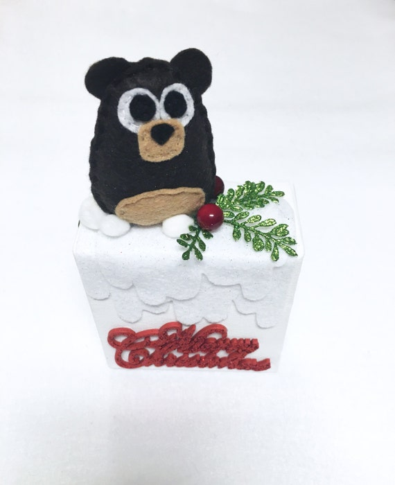 Clearance Bear Canvas, Wall art, Ornament, Merry Christmas, Home Decoration, Wall Hanging, Christmas Decoration, Winter