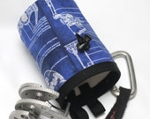 Blueprint Death Star, Hand Crafted Chalk Bag - Rock Climbing