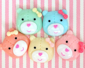 BEAR CABOCHON - Assorted Colors