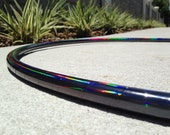 Black Beauty Polypro Hoop // Black Rainbow Polypro // Choose Your Tubing & Diameter!