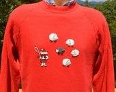 vintage 80s sweatshirt BLACK SHEEP scotland raglan crew neck Medium Large preppy