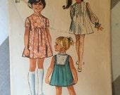 """Vintage 1970s Simplicity Girl's Dress Pattern 8715 Size 7, Bust 26"""" - OH - Vintage Simplicity / 70s Girl's / 70s Pattern"""