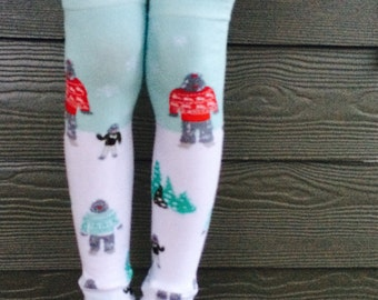 Sale - Winter Yeti Leg and Arm Warmers for Boys, Girls - Infant, Baby, Toddler, Kid Leggings - Great Accessory for Holiday Photos