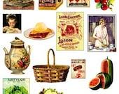 Vintage Food embellishment images Digital download Collage Sheet GreatMusings No. 220