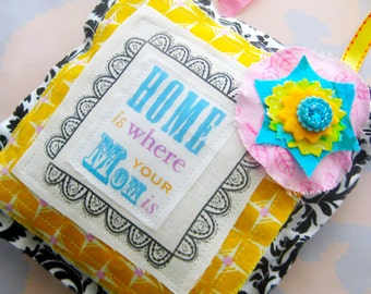 Fabric Stuffed Pillow Hanging Ornament Mothers Day