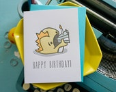Happy Birthday Monster Letterpress Note Card